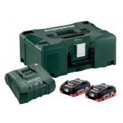 Комплект Metabo Basic-Set 2 x LiHD 18V 4.0Ah + ASC Ultra + MetaLoc 685130000