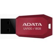 Stick USB A-DATA UV100 Slim Bevelled 8GB (Rosu)