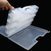 Double Sided Tackle Box Transparent Visible Fishing Lure Box 29.5*20.5*6.2cm