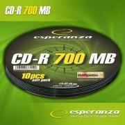 Medii de stocare esperanza CD-R 700MB Soft Pack 10p. 52x