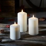 Lot de 3 Bougies d'Extérieur à LED TruGlow®