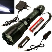 3 Mode Rechargeable Weatherproof 7W Long Beam LED Flashlight Torch Outdoor Lamp Torch Light Emergency Lights 1200 lumen