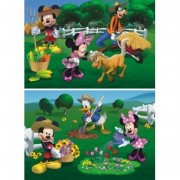 Puzzle 2 in 1 Clubul lui Mickey Mouse la ferma 66 piese Dino Toys