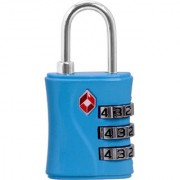 3 Digit Resettable TSA Travel Sentry Approved Own Password Travel Combination Security Padlock - 16 B