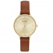 Karóra SKAGEN - Anita SKW2147 Light Brown/Gold