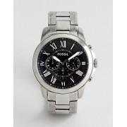 Fossil Серебристые часы-браслет Fossil FS4736IE Grant - Серебряный