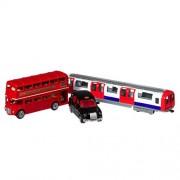 Hamleys London Trio Pack (Bus/ Taxi/ Tube), Multi Color