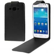 Samsung Vertical Flip lederen hoesje voor Samsung Galaxy Win Pro / G3812(zwart)