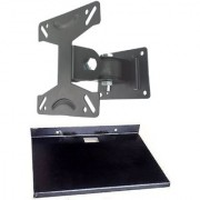 Universal Movable Wall Mount Stand for LCD-TFT-PLASMA TV 10 - 21 Screen with Free Metal Tray Stand
