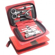 9 in 1 Manicure Set Nail Art Clipper Pedicure Tweezer Cutter Earpick Tool Kit -21