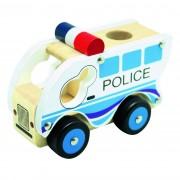 Bino Mașinuță din lemn Poliție, albastră