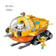 Generic The Octonauts Building Blocks All Set Octo-Pod Octopod Playset Educational Enlighten Bricks Toys for Children 3704