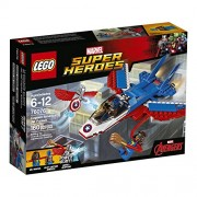 LEGO Super Heroes Captain America Jet Pursuit Building Kit (76076) - Pack of160