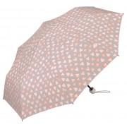 Esprit Umbrelă pliabilă pentru femei cu husă Super Mini Water Color Hearts cream pink