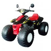Квадроцикл электрический, черно-красный, 120 см, Биг Бич Рейсер, 12В