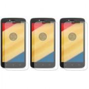 Deltakart Tempered Glass for Motorola Moto C Plus - Pack of 3