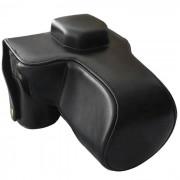 Bolsa de piel de cuero para Sony A7R camara reflex digital - negro