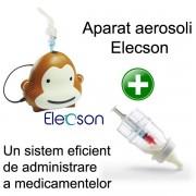 Aparat aerosoli Monkey Elecson (EL001) + Medibottle pentru bebelusi