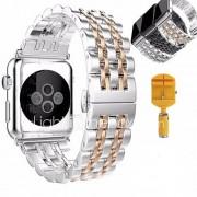 Horloge band voor appelwatch serie 1 2 roestvrijstalen armband vlinder gesp