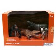Set 4 figurine - Gorila Crocodil Pui Zebra si Hipopotam NTM02008