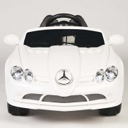 Licensed Mercedes Benz SLR Mclaren 722s 12v Kids Boys Girls Ride on Power Wheels Toy Car,Remote Control ,Music-White