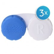 Feel Good Contacts Feel Good Contact Lens Case Triple Pack