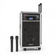 Vonyx ST-100 MK2 Sistema de Som PA Móvel Bluetooth CD USB SD MP3 Bateria UHF
