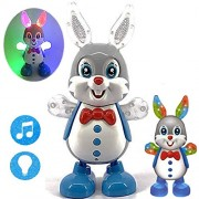 ZuffonDancing Rabbit/Frog/Duck With Music and 3D Flashing Lights For Babies, Toddlers, Girls and Boys | Perfect Birthday Gift for Your Baby ,Dancing Duck/Frog/Rabbit Toy,LED Lighting Duck/Frog/Rabbit Walking ,Musical Sound Toy for Toddlers and Babies, Mus