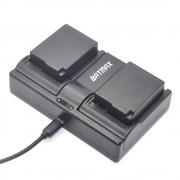 2 Stks 1400 mAh DMW-BLC12 DMW-BLC12E DMCBLC12 BLC12 Batterij & Dual Charger voor Panasonic FZ1000, FZ200, FZ300, G5, G6, G7, GH2, DMC-GX8