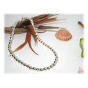 Collier Perles 8 mm Argent