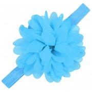 Modaling Encaje Kids Niño Del Bebé Suave Elástico Venda De La Flor De Headwear Accesorios Azul Claro