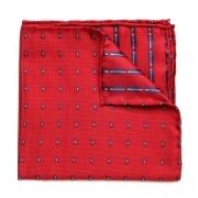 Batistă bărbătească de buzunar formă pătrată Willsoor (model 121) 8557 Red