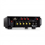 Auna Amp EQ BT, HiFi караоке усилвател, 2 x 30W RMS, BT, USB, SD, 2 x вход за микрофон (JO2_AMP-EQ-BT)