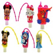 6th Dimensions Portable Lovely Cartoon Hand Sanitizer / Hand Gel - For Kids Pack of 6