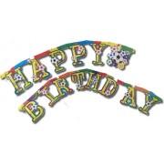 Happy Birthday fűzér - focis