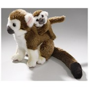 Stuffed Animal Monkey, Squirrel Monkey with Baby, 8 inches, 20cm, Plush Toy, Soft Toy