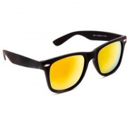 TheWhoop Mirror Orange Wayfarer Unisex Sunglasses For Mens Women Girls Boys