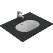 Ideal Standard onderbouwwastafel ovaal 48x35cm met overloop zonder kraangat wit E504601