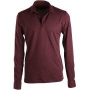 Suitable Poloshirt Mit Langen Ärmel Bordeaux - Bordeaux L
