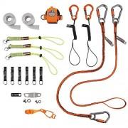Ergodyne Kit de fijación de herramientas para acabado de hormigón, incluye cordones para herramientas y accesorios para amoladoras eléctricas y paletas, Squids 3184