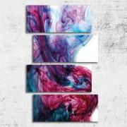 Tablouri abstracte canvas 4 piese - Fluiditate