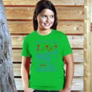 Tricouri personalizate, logo si text in doua culori