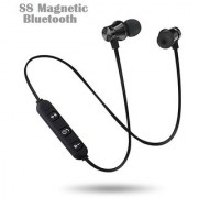 S8 Wireless Bluetooth Headphone By Infiprises with Magnetic Suction Earphone Headset Gym Running Outdoor