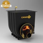 Печка на дърва Canada 00 за огрев и готвене със стъкло, 50л