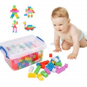 DIY Bloks Juguete De 120 Piezas De Plástico Kids Puzzle Educativos Building Blocks Ladrillos