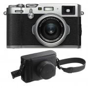 Fujifilm X100F Silver + Svart Väska (LC-X100F)