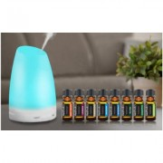 Aesthetics Ultrasonic Cool-Mist Aroma Diffusers with Optional 8-Pack Oils Serene Diffuser with 8-Pack Essential Oils