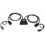 Mini KVM Switch 2 PC 1 Console Porte PS2