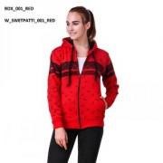 Women Pati Red Sweatshirt