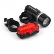 EH Bicicleta Bicicleta Luz Trasera Resistente Al Agua De Cabeza Linterna De Seguridad Bracket Kit 5LED